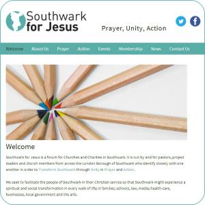 Site Launch ~ Southwark for Jesus