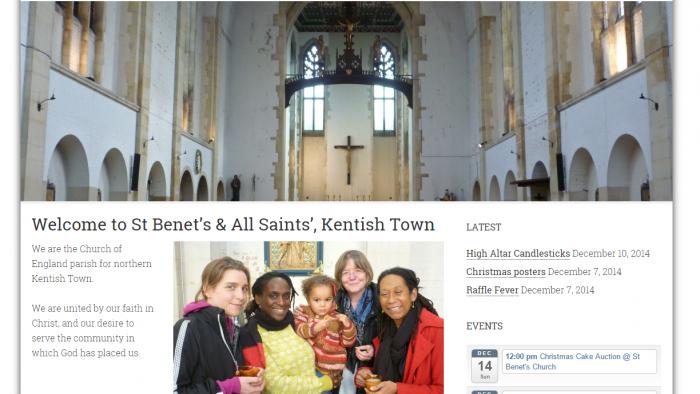 Logo & Website ~ Saint Benet's and All Saints'