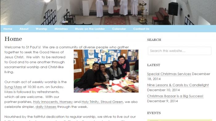 Website ~ St Paul's Harringay