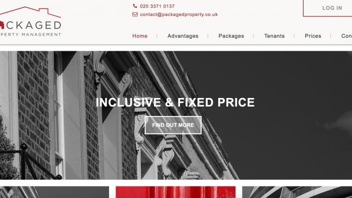 Packaged Property Website ScreenShot