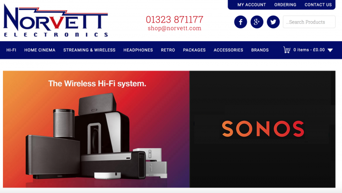 Norvett Electronics Screenshot