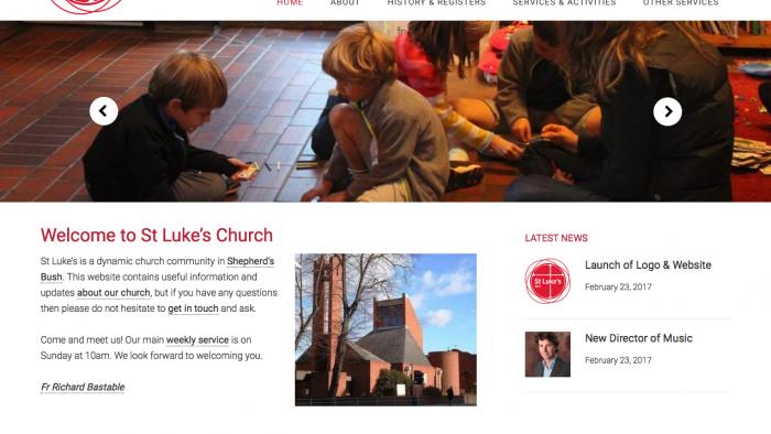 Website Launch ~ St Luke's W12