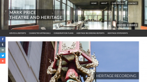 Template Business Website - Mark Price Theatre and Heritage