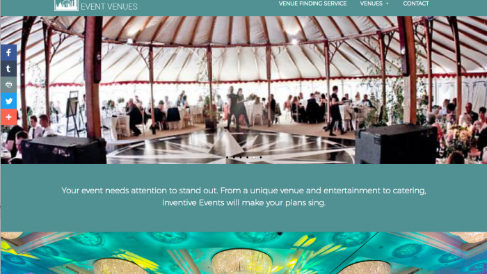 London Event Venues Website