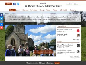 Wiltshire Historic Churches Trust Website Screenshot