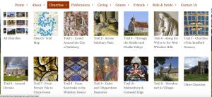 Wiltshire Historic Churches Trust Church Menu Screenshot