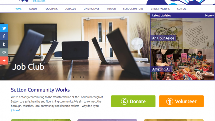 Sutton Community Works ~ Charity Website